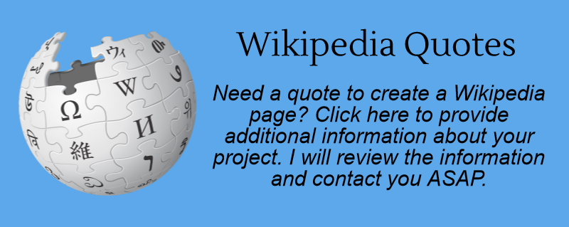 Wikipedia project quote