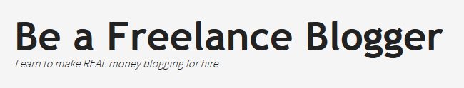 Be A Freelance Blogger Logo