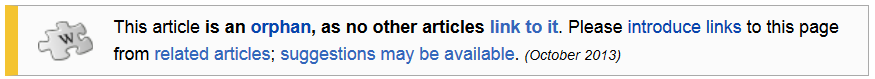 Help Removing Orphan Notice From Wikipedia Article
