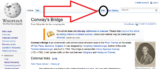 Placing A Reference In Wikipedia Article