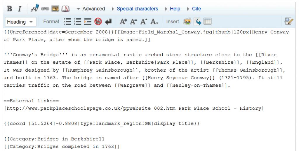 Wikipedia Source Code