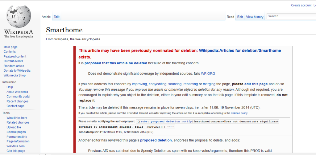 Save A Wikipedia Article Proposed Deletion