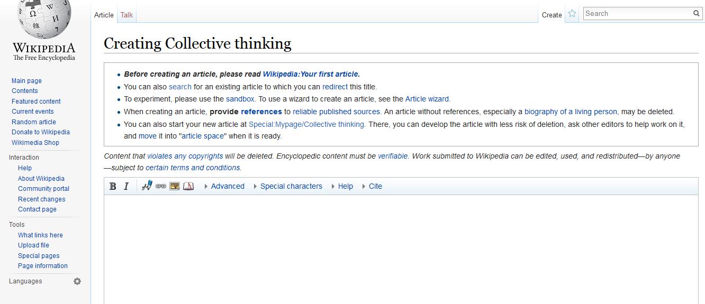 wikipedia create article wizard