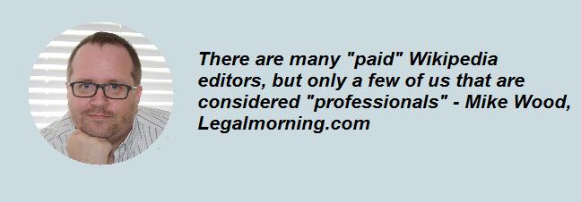 Paid Wikipedia editor quote