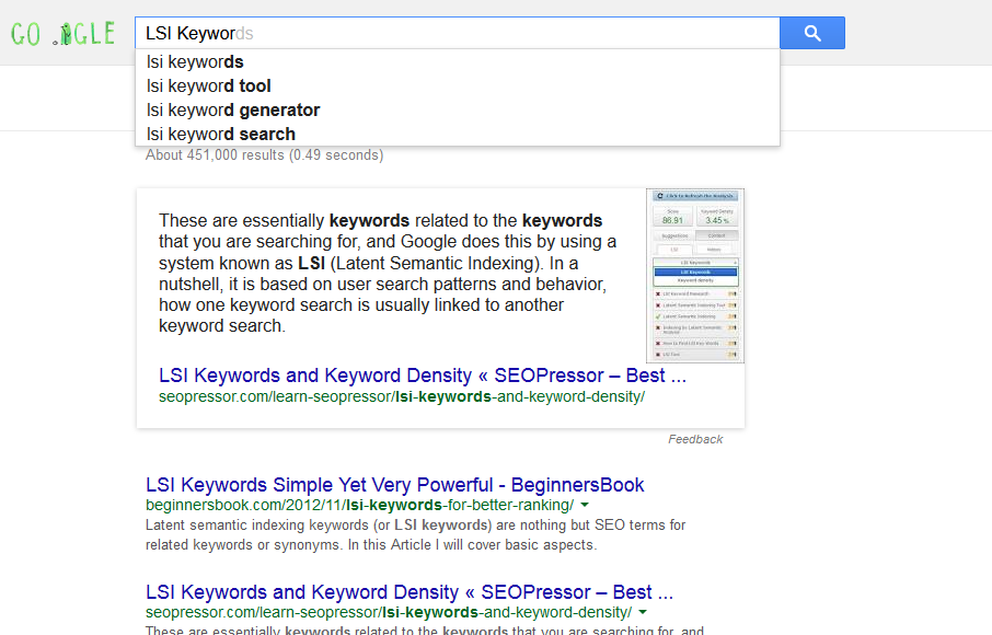 The Effect of LSI Keywords on SEO