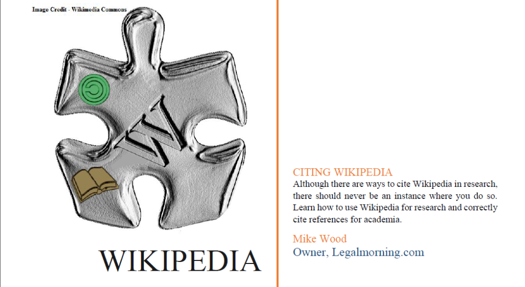 Guide to using Wikipedia in Academia