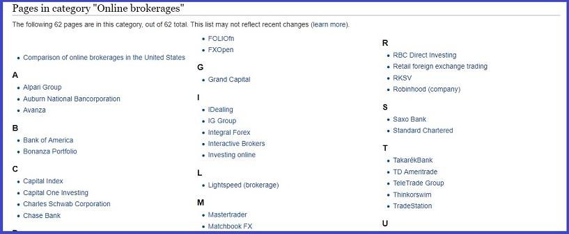 Online Brokerage Wikipedia Screenshot - Legalmorning